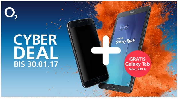 Cyber-Deal bei o2 ab dem 27.1.2017, 12 Uhr: Samsung Tablet
