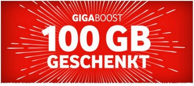 Vodafone GigaBoost Aktion mit 100 GB Datenvolumen gratis