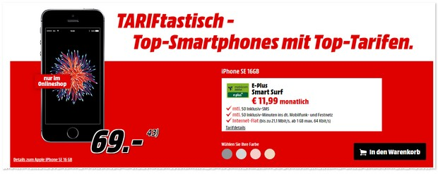 Media Markt TARIFtastisch Deal ab 27.3.2017