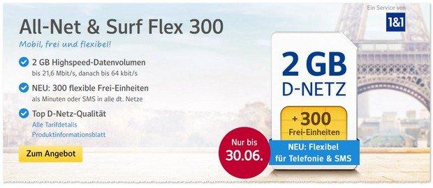 WEB.DE Handytarif mit Flex-Einheiten im Juni 2017
